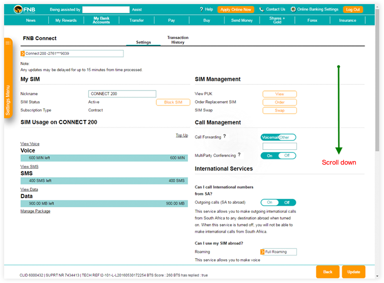Fnb online banking overdraft application