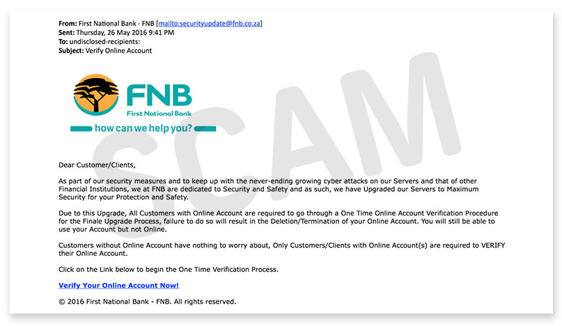 Fraud Types Security Center Fnb