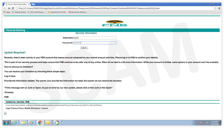 Fnb Home Page Login