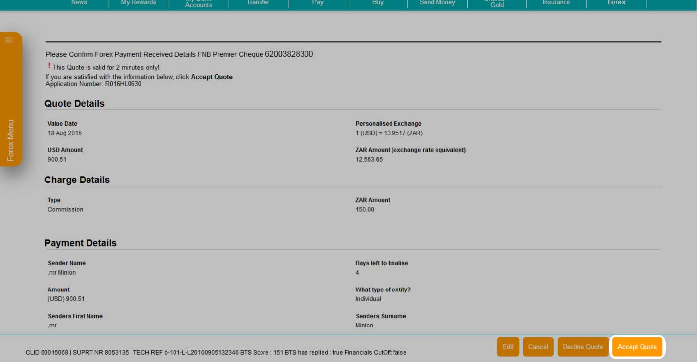 Fnb forex payments online