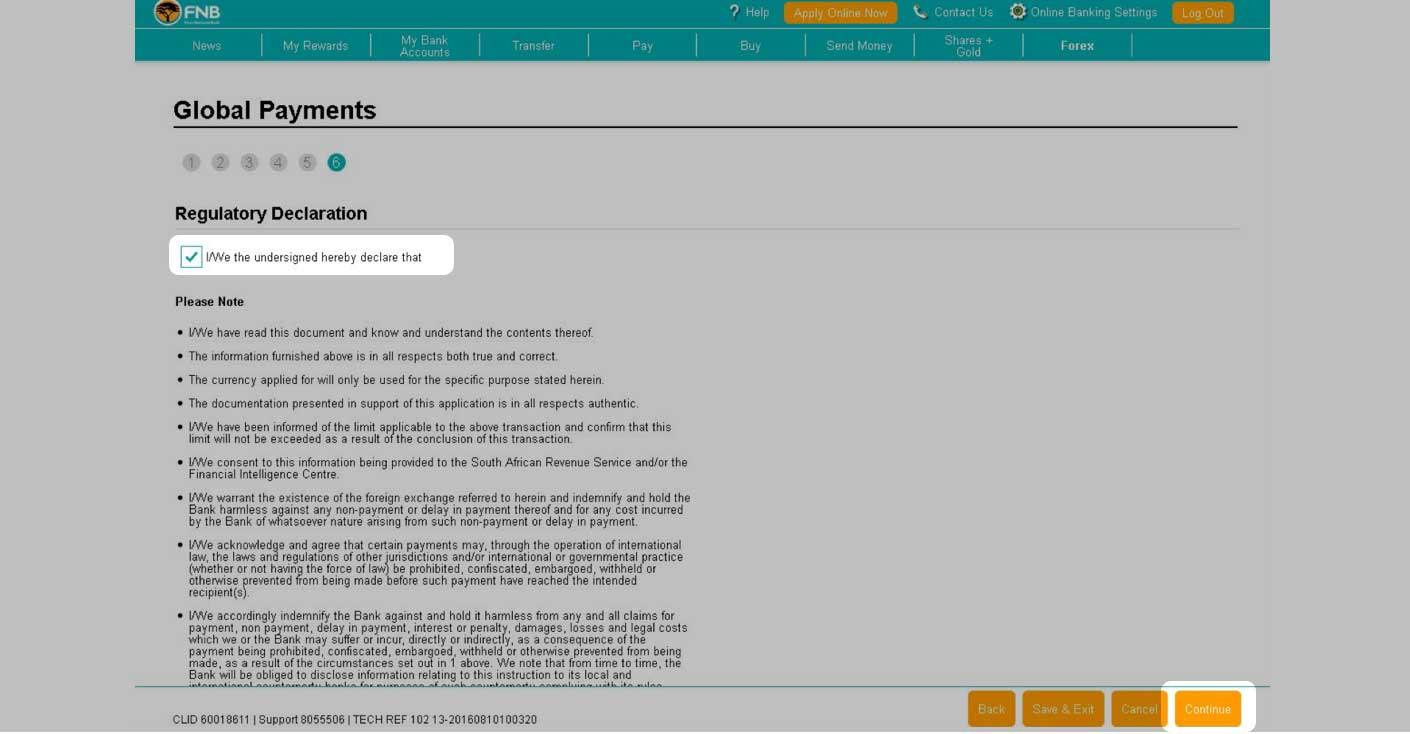 Fnb forex swift code